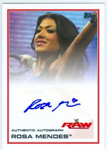 """ROSA MENDES """"AUTOGRAPH CARD"""" TOPPS WWE TRIPLE THREAT 2013 ..."""