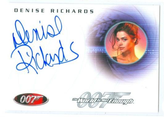 Details About Denise Richards Dr Christmas Jones Autograph Card A69 James Bond In Motion