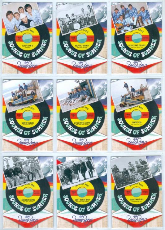 12 cards 2013 Panini Beach Boys 50th Anniversary Sounds of Summer Insert Set