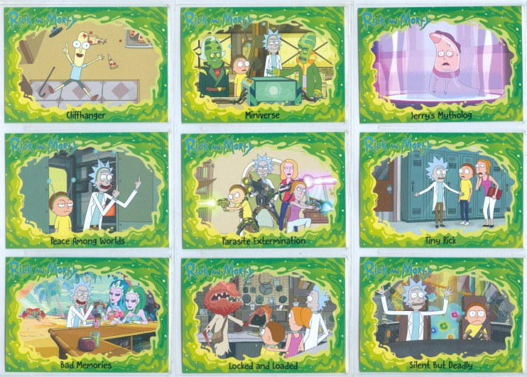 """/""""COMPLETE BASE /& 6 CHASE SETS 114 CARDS/"""" RICK AND MORTY SEASON 2"""