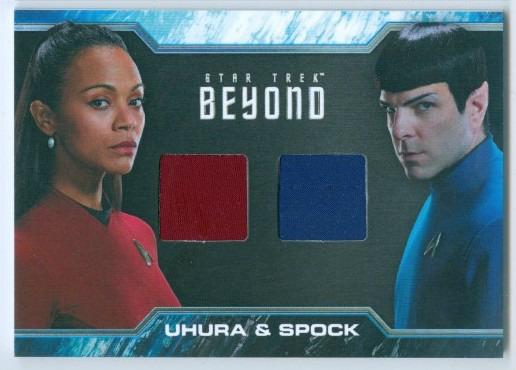 Details About Zoe Saldana Zachary Quinto Uhura Spock Dual Wardrobe Dc2 Star Trek Beyond